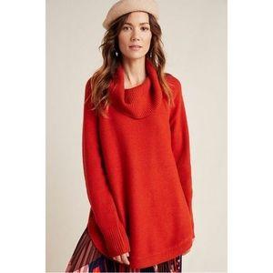 EUC Anthropologie Georgia cowl neck tunic sweater